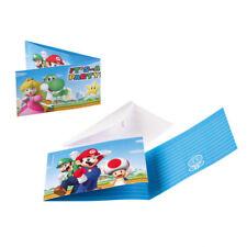 Super Mario Party Einladungen Einladungskarten Deko Kindergeburtstag Jungen