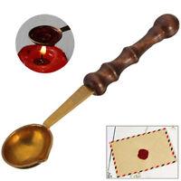 Mini Brass Wax Melting Spoon Stamp Seal DIY Vintage Log Handle Sealing Wedding
