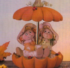 Ceramic Bisque to Paint Scarecrow Couple Pumpkin Parasol Music Box kit included