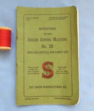 Rare Singer 28 Instruction Booklet ~ Can Also Be Used With Models 27, 127 & 128