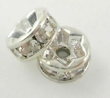 Silver Plated Jewellery Making Rondelle Beads