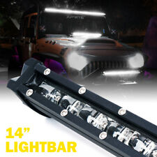 "Xprite  60W 14"" Single Row Led Light Bar CREE Ultra Thin Lightbar ATV SUV 4x4"