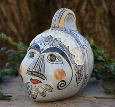 Med Old Style Face Bank Handmade & Hand Painted Tonalá Pottery Mexican Folk Art