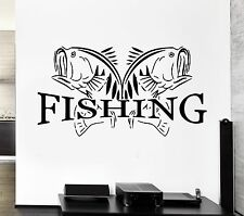Wall Decal Fishing Fish Lake Relax Relaxation Cool Decor For Living Room (z2758)