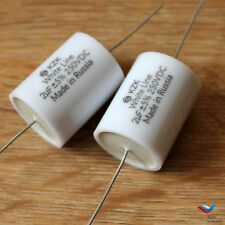 KZK White Line 2pcs 2uF 250V 5% Russian MKP Audio Capacitors for build crossover