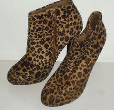 RUBI AnimalPrintFauxSuedeHiAnkleBoots Size38 EUC
