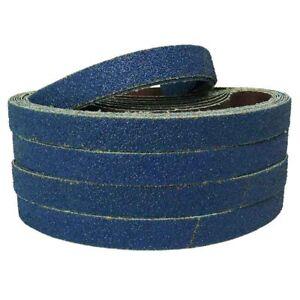 Abracs File Sanding Belts Blue Zirconium 40g 60g 80g 6mm 10mm 12mm 13mm 19mm 20