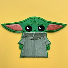 DISNEY MANDALORIAN THE CHILD YODA EMBROIDERED APPLIQUÉ PATCH SEW IRON ON