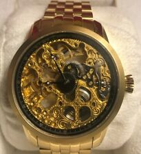 Invicta Mens Watch Mechanical Movement Skeleton DIal Model 5001 Gold