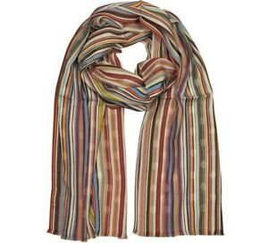 Paul Smith Men's Scarf -BNWT Signature Striped Polka Dot Cotton-blend RRP: £110