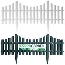 Miniature Garden Landscape White Fence 4 Set Wood Effect Fencing Edging Panels