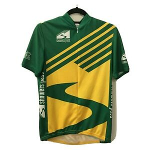 """cycle jersey """"showers pass"""" aussie shortsleeve pit to pit 20"""" 21-2376"""