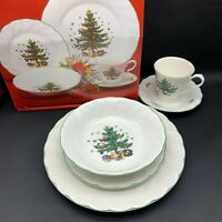 5 Pc Place Setting Nikko CHRISTMASTIME Dinner & Dessert Plate Cup Bowl Saucer