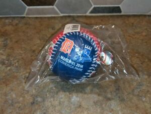2014 DETROIT TIGERS KANSAS CITY ROYALS Opening Day Souvenir Baseball Rawlings