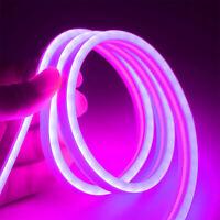 Tiras LED Flexibles Silicona 12V Tubo Luces Neón Prueba Agua Lámpara 1/2/3/4/5 m