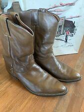 Vintage Justin Boot Co Style 3826 Walnut Brown Ten Inch Medium Toe 9.5 EE