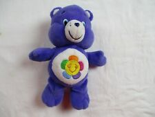"Care Bears HARMONY BEAR 6"" Plush 2015 Purple Stuffed Animal Toy"