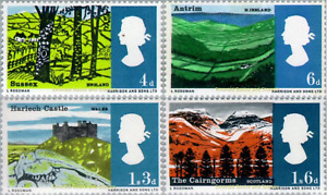 EBS Great Britain 1966 - Landscapes  - SG 689-692 MNH**