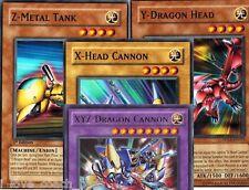 Super* XYZ Fusion:  Set of 4(X Head Cannon-Y Dragon-Z Metal Tank)1st DPKB Yugioh