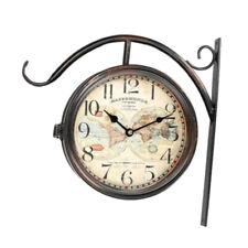 481b8ce10f70 Reloj de Pared MAPPE MONDE Estacion Forja Marron