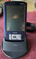 Toshiba E800 Blue Case Pocket PC With OEM Cradle No Charger Cannot Test