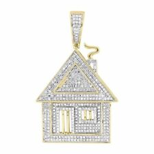 60mm 925 Sterling Silver Home 8mm Thick Customised Pendant