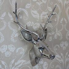 Metal Pulidos Plata Decoración De Pared Colgante ciervo CABEZA Adorno Regalo