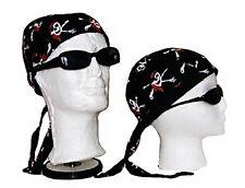 Jolly Roger Red Hat Skull and Bones Pirate Do Rag Skull Cap Head Wrap