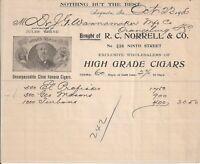 1906 Augusta Georgia High Grade Cigars Illustrated Billhead