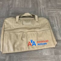 VINTAGE AMERICAN AIRLINES AA TAN FLIGHT TRAVEL CARRY-ON BAG Luggage