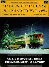 Traction & Models Magazine : November 1975 : CA & E Memories - NMRA