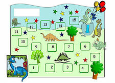 A5 Magnetic Children's Dinosaur Reward Chart (Picture Poster Kids Bedroom Sleep)