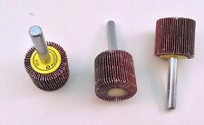 "3pcs 1""x1""x1/4"" Shank 120 Grit Interleaf Flap Sanding Abrasive Wheels Discs"