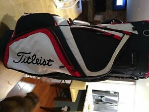 Titleist Cart Bag, Black/Red/White