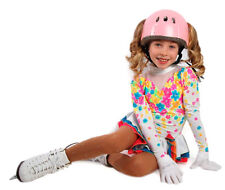 Girls Figure Skating Helmet Wuevo Pink Crystals Holes for Ponytail Size Small