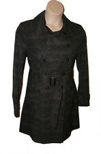 BNWT size 18  F&F  Ladies SMART TRENCH COAT in SNAKE BROWN & BLACK