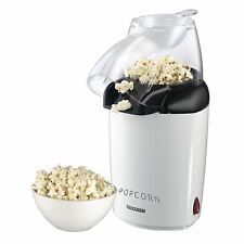Severin Home 3 Minute Hot Air Popcorn Maker with Transparent Lid & Filling Scoop