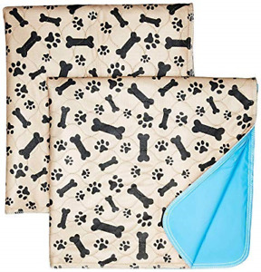 Washable Pee Pads for Dogs Whelping Reusable 2-Pack Quilted Large 35 x 31 Extra