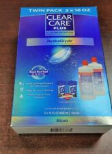 Clear Care Plus Cleaning Solution Twin Pack HydraGlyde 2 x 16oz +2case Exp5/2023