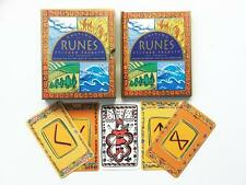 Casting The Runes Card Pack By Jon Tremaine 1996 - 25 Card Deck And Guidebook