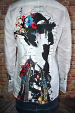 fdf3fa4e RARE Robert Graham Limited Edition Linen/cotton Priscilla Women`s Shirt Sz M