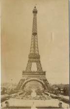 ND. France, Paris, L'Eiffel Tour  Vintage albumen print.  Tirage albuminé