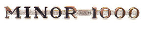 """Morris Minor Chrome Bonnet Side Badge - """"MINOR 1000"""" Supplied with fixing clips"""
