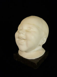 SIGNED MARBLE BUST 'HAPPY BABY' BY ITALIAN SCULPTOR G. SARTI