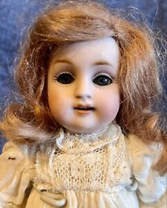 "Antique German Large 8"" All Bisque Kestner 150 Fully Jointed Glass Eyed Doll"