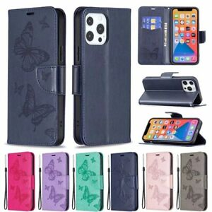 For iPhone 13 12 11 Pro Max XS XR 8 7 Plus Luxury Leather Wallet Folding cover