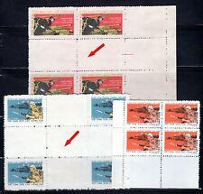 N.283-Vietnam-Block 4-(Gutter pair of stamps)-Military frank set 3 1973 Rare
