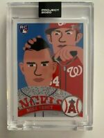 Topps Project 2020 Mike Trout Artist Keith Shore #260 PR 6,824 Angels Harper MVP