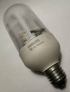 PHILIPS SL9 Prismatic Light Bulb Daylight 9W 375Lumen 230V 50Hz Vintage
