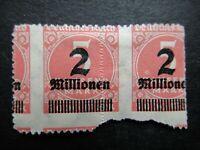 Germany 1923 ERROR Stamp Mint Wmk Overprint Surcharged Deutsches Reich German De